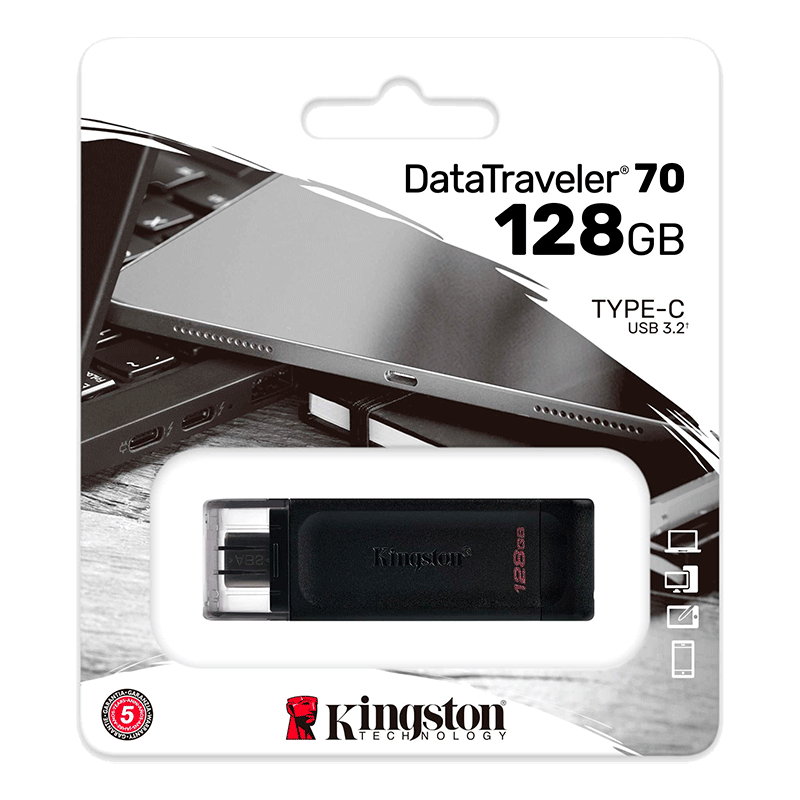 Memoria Type-C Kingston 128GB DT70
