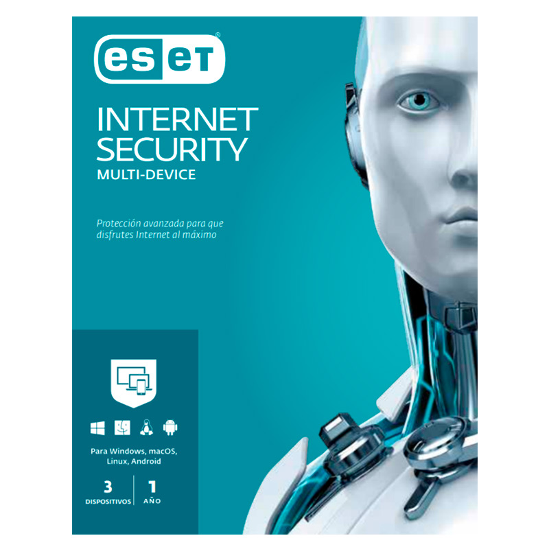 Licencia Eset Internet Security para 3PC 1año